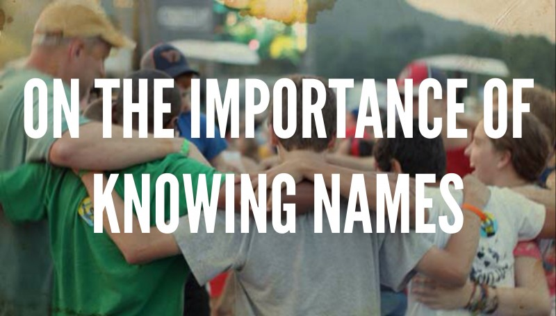 On The Importance Of Knowing Names